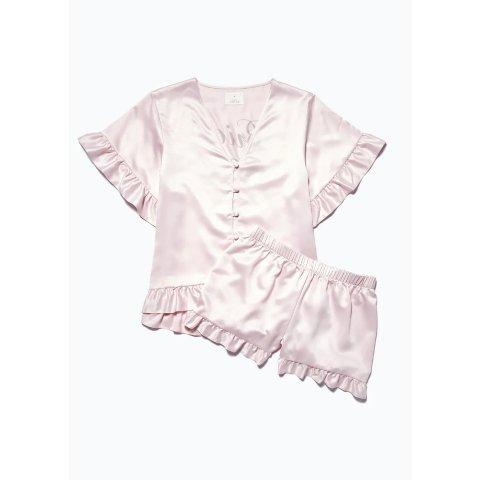 粉色蕾丝睡衣