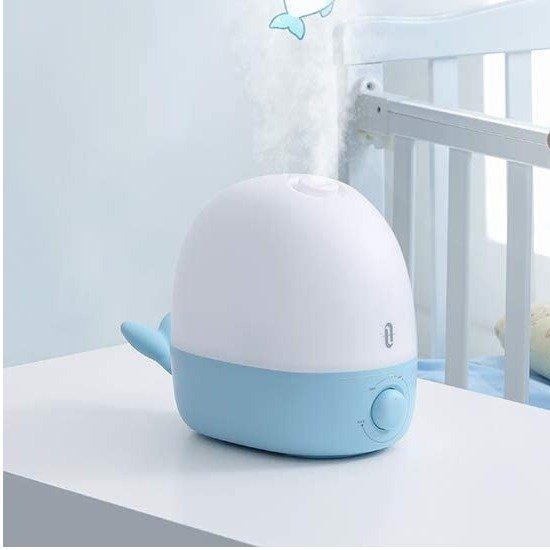超萌鲸鱼宝宝冷雾加湿器 2.5升容量 带夜灯香薰功能