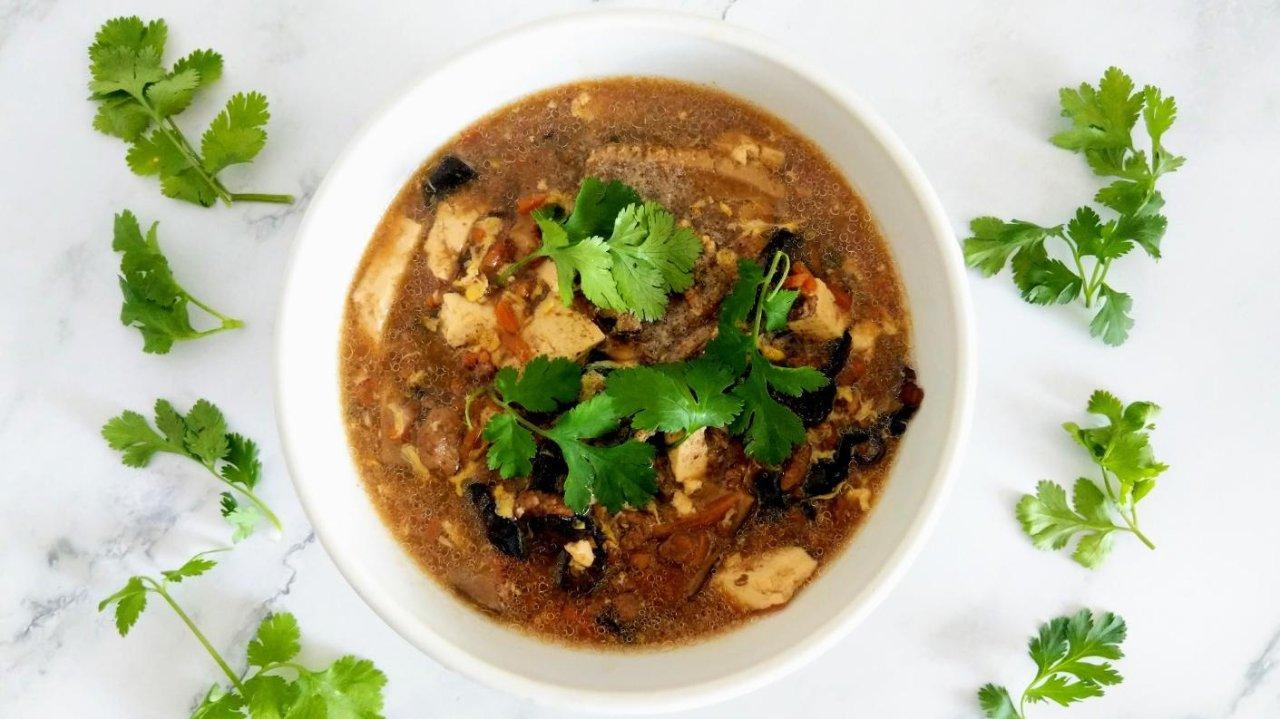 减热量+Instant Pot版本|喝起来又酸又辣的酸辣汤食谱不私藏分享