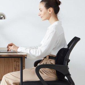 $24.6(原价$69)记忆泡沫高支撑腰枕/腰垫 上班族久坐缓解腰酸 支撑脊柱防止弯曲
