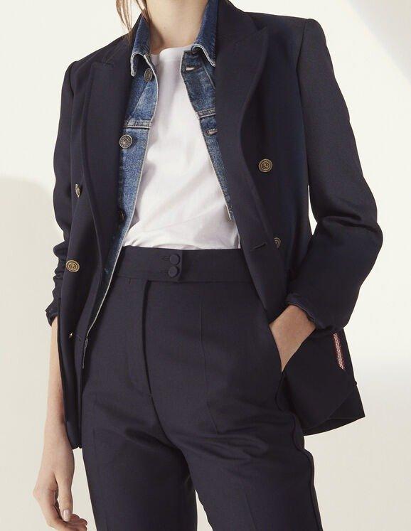 双排扣西装外套