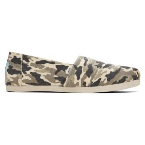 Toms新款迷彩帆布鞋