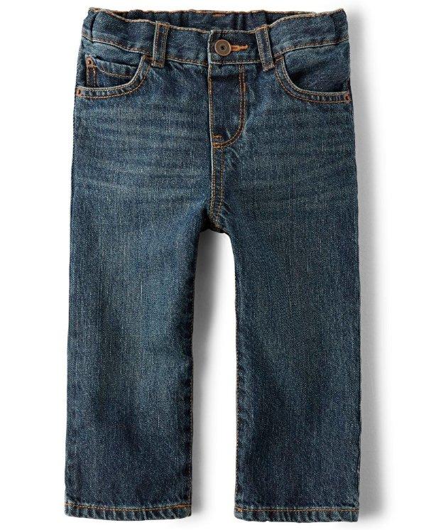 婴幼儿基础直筒牛仔裤