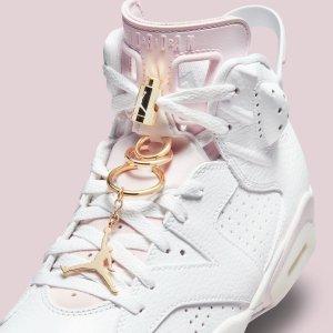$190Nike Store Women's Air Jordan 6 Gold Hoops