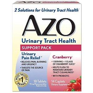 $5.84收蔓越莓胶囊、感染试纸$7.96AZO 女性专业健康系列产品 关爱泌尿系统健康