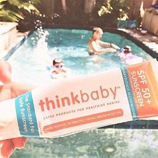 $10  销量冠军Thinkbaby 儿童安全防晒霜SPF 50+,3盎司