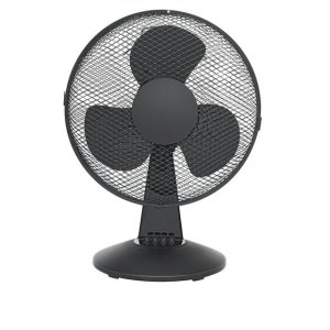 ChallengeBlack Oscillating Desk Fan - 12 Inch