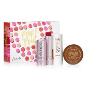 $25(价值$36)Fresh Prep & Pout Lip Set 限量版唇膏套装上架