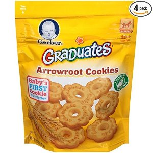 $6Gerber Graduates Arrowroot Cookies Pouch 5.5 Ounce (Pack of 4) @ Amazon