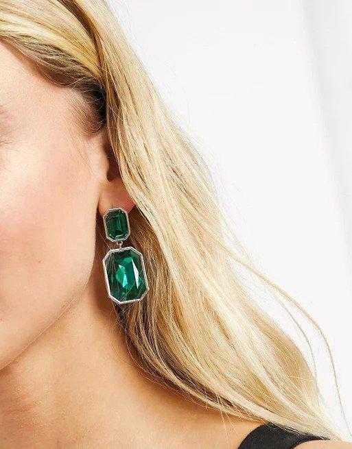 emerald 耳环