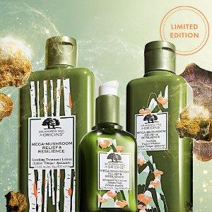 满额最高送14件中样Origins 悦木之源限量系列热卖 收大包装菌菇水、限量套装