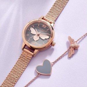 3折起 £23收小蝴蝶耳钉Olivia Burton 手表配饰奥莱区上新 优雅少女风 英伦风送礼必备