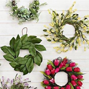 额外5折限今天:Kirkland's 全场装饰花环热卖 把春天带回家