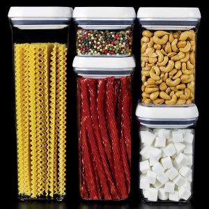 $37.49(原价$83.99)OXO 密封式食物储存罐5件套