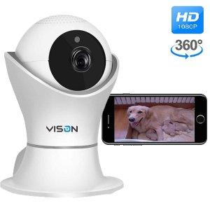 FullHD 1080p WiFi Home Security Camera Pet Camera