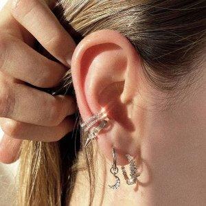 低至5折 £32收珍珠耳骨夹Astrid & Miyu 耳骨夹专场 不用耳洞超美戴起来