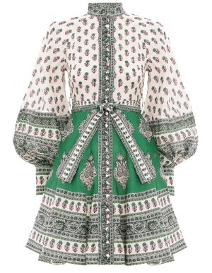 Amari Emerald Buttoned Dress