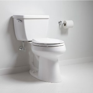 KOHLER Highline Classic White WaterSense Labeled Elongated Chair Height 2-piece Toilet