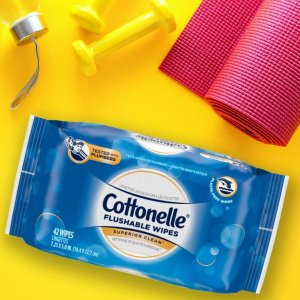 Cottonelle FreshCare Flushable Wipes for Adults, Alcohol Free, 252 Wet Wipes per Pack