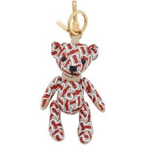 Burberry官网价£200小熊钥匙链