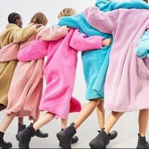 满额8折!£239收泰迪大衣STAND 瑞典小众品牌大促 平替泰迪熊大衣过分可爱