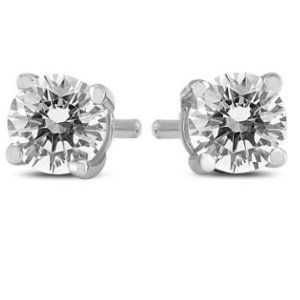 Dealmoon Exclusive!Only $158.49 + Free Shipping1/2 Carat TW Round Diamond Solitaire Stud Earrings In 14k White Gold @ Szul