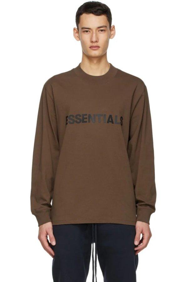 泰迪熊棕长袖T恤