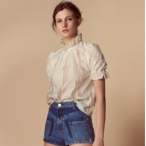 25% OffCream Clothing Sale @ Sandro Paris