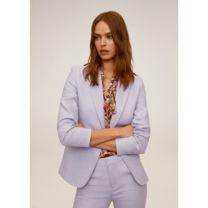 MangoLinen button blazer - Women | Mango USA