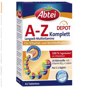 折后仅售5.59欧德国Abtei A-Z复合维生素综合提高人体免疫力 辅助抗病毒