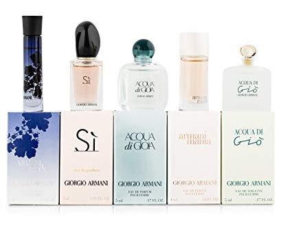 Giorgio Armani Variety 5 Piece Mini Gift Set For Women At Amazon