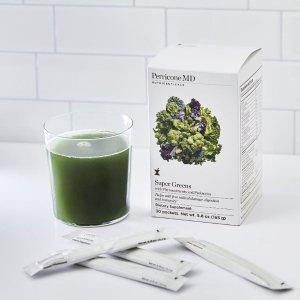 折后€2.5/天 抗氧化 促消化Perricone MD 超级绿汁粉 没时间亲自做 这款便捷又有效!