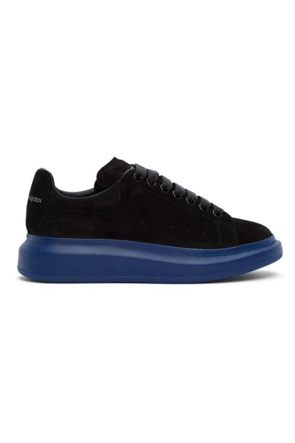 SSENSE Exclusive 男士蓝黑厚底鞋