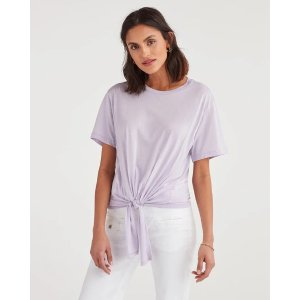 7 For All MankindTunnel Front Tee in Lilac Mist
