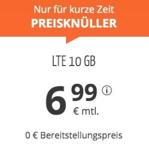 月租€6.99 免除€19.99接通费11点截止!每月10GB包月上网+60分钟免费电话+欧盟漫游