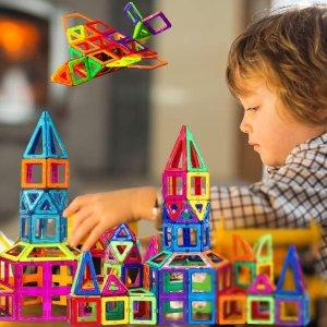 $32.99(原价$50)AMOSTING 彩色磁力积木 开启宝宝无线想象力