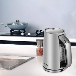 $29.99(原价$59.99)史低价:BESTEK 不锈钢电热水壶 1.7L