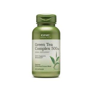 $9.99 (原价$19.99)最后一天:GNC Herbal Plus®  绿茶精华胶囊 500mg 100粒装