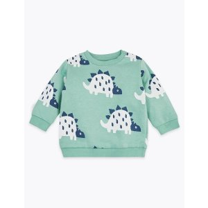 Buy 2 get 1 freeCotton Dinosaur Print Sweatshirt (0-3 Yrs)
