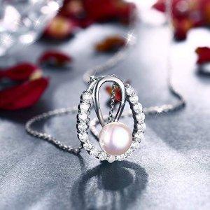 $9.87 (原价$29.87)Zhulery 珍珠项链 925银防过敏 精美浪漫
