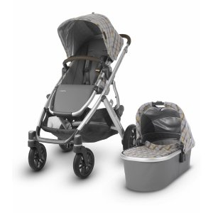 UPPAbaby2019 VISTA Stroller - Spenser (Grey & Yellow Tartan/Silver/Moss Leather)