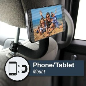 Headrest Hook With Magnetic Phone & Tablet Mount 2-piece