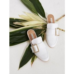 Karen White白色穆勒鞋