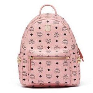 包税史低价:MCM 粉色小号侧面双排铆钉背包 邮寄中国¥3174