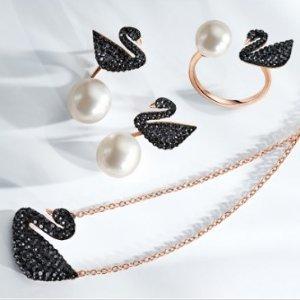 最高6.5折 $57收黑天鹅项链最后一天:Swarovski 明星天鹅系列特卖 收新款粉天鹅
