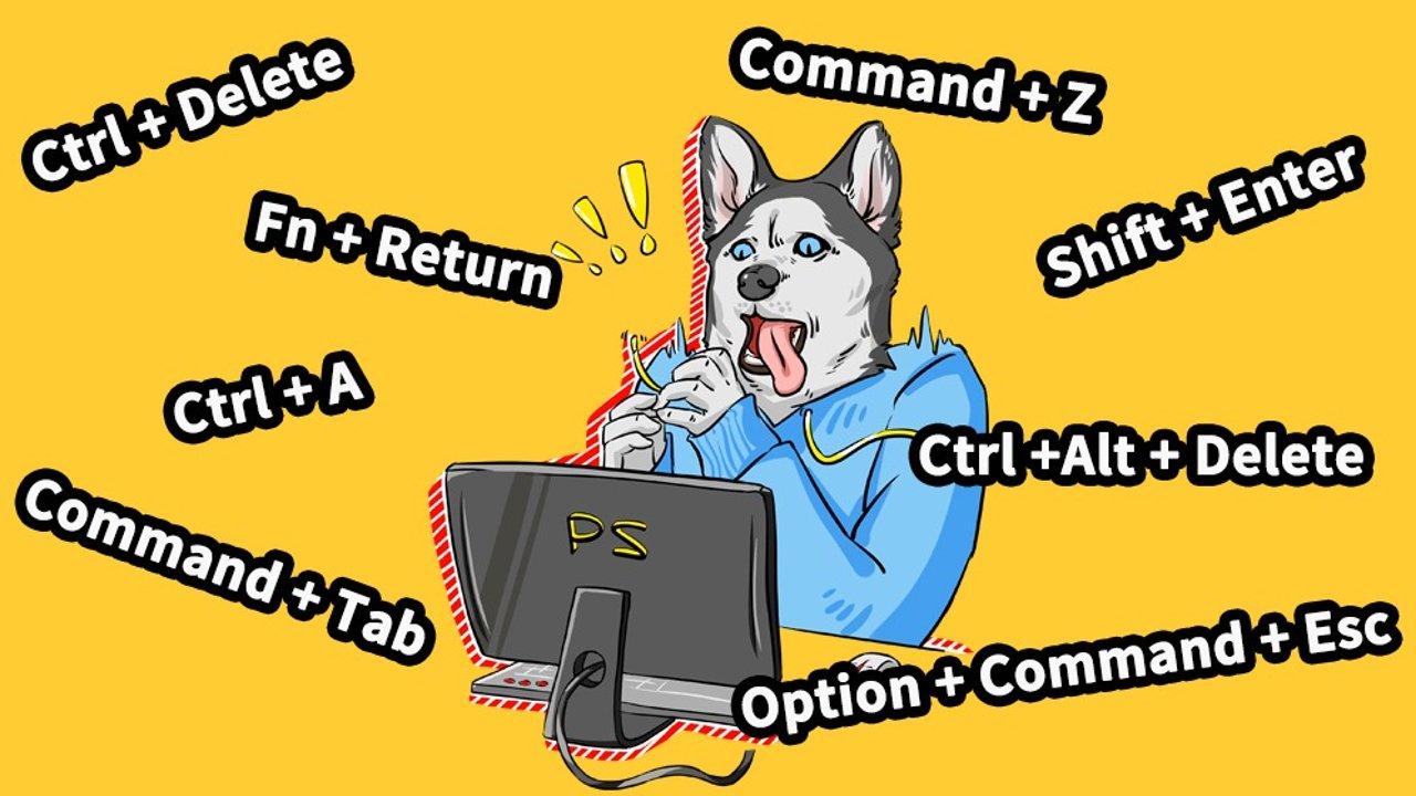 超实用!这60个电脑键盘快捷键功能大全给你了!对应Mac键盘都有哦!