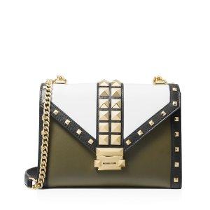 2c4a18fc896c Michael KorsWhitney Large Color-Block Studded Leather Shoulder Bag.  283.50   378.00. Michael Kors Whitney ...