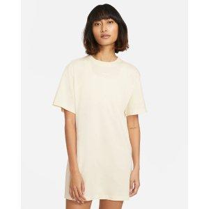 Nike基础款鹅黄色连衣裙