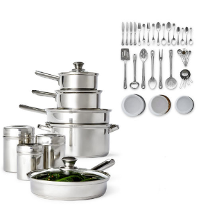 $30.99 after rebateCooks 52-PC. Stainless Steel Cookware Set @ JCPenney