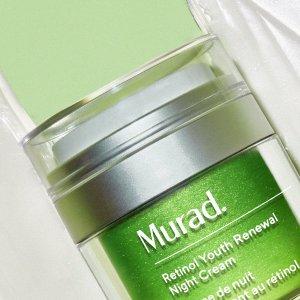 无门槛8折+免邮最后一天:Murad官网 护肤热卖 必收视黄醇精华、祛痘精华